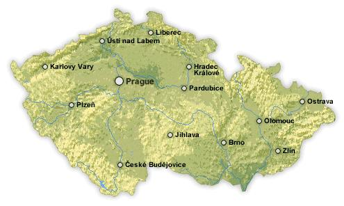 Travel guide Interactive map of the Czech republic accommodation